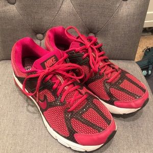 Pink & Black Polka Dot Nike Sneakers